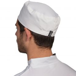 Le Chef White Adjustable Skull Cap