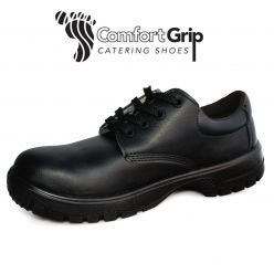 Comfort Grip Lace-Up Shoe with a Safety Toecap