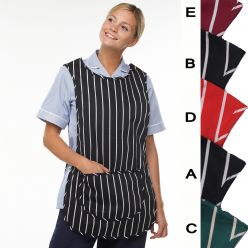 Dennys Cotton Striped Tabard with Pocket CLEARANCE